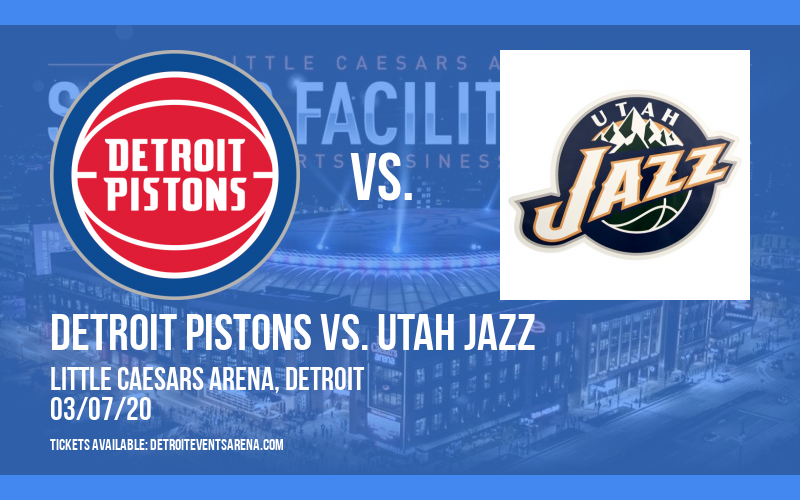 Detroit Pistons vs. Utah Jazz at Little Caesars Arena
