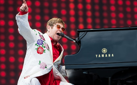Elton John at Little Caesars Arena