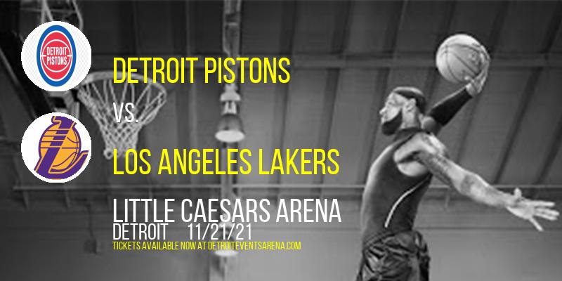 Detroit Pistons vs. Los Angeles Lakers at Little Caesars Arena
