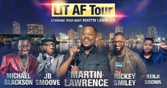 LIT AF Tour: Martin Lawrence, DeRay Davis & Rickey Smiley at Little Caesars Arena