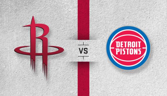 Detroit Pistons vs. Houston Rockets at Little Caesars Arena