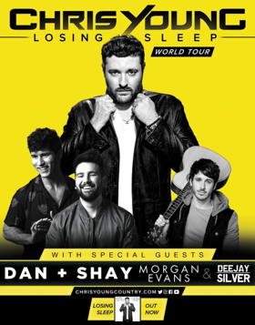 Chris Young, Dan And Shay & Morgan Evans at Little Caesars Arena