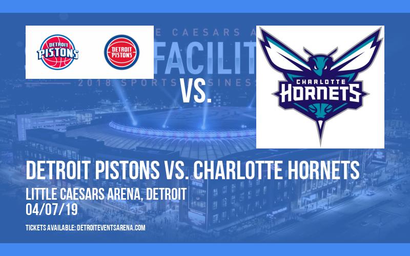 Detroit Pistons vs. Charlotte Hornets at Little Caesars Arena